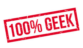 100 percent geek rubber stamp Royalty Free Stock Image