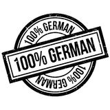 100 percent german rubber stamp Royalty Free Stock Photos
