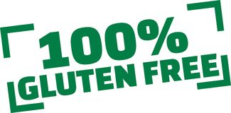 100 percent gluten free. Vector Stock Photos
