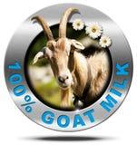 100 Percent Goat Milk- Metal Icon Stock Photos
