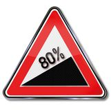 80 Percent gradient. And business concept Stock Image