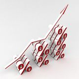Percent graph Royalty Free Stock Photo
