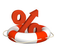 Percent growth Royalty Free Stock Images