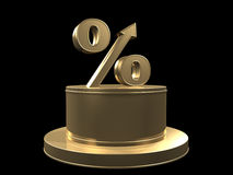 Percent growth Royalty Free Stock Photos