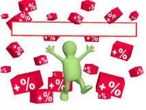 Percent growth Stock Photo