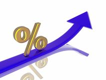 Percent growth Stock Photos