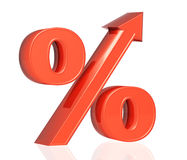 Percent growth Royalty Free Stock Image