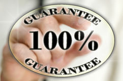 100 percent guarantee icon Royalty Free Stock Image