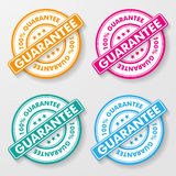 100 Percent Guarantee Paper Labels. 100 percent guarantee colorful paper labels. Eps 10  file Stock Images