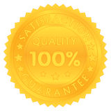 100 percent guarantee satisfaction quality. Isolated stock illustration