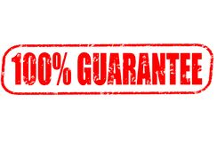 100 percent guarantee stamp. 100 percent guarantee red stamp on white Stock Image