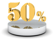 50 Percent. (high resolution 3D image Stock Photos