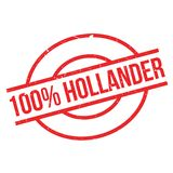 100 percent hollander rubber stamp Royalty Free Stock Image