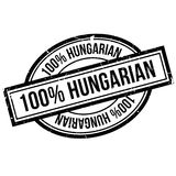 100 percent hungarian rubber stamp. Grunge design with dust scratches. Effects can be easily removed for a clean, crisp look. Color is easily changed Royalty Free Stock Photos
