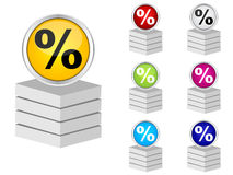 Percent icon Royalty Free Stock Photo
