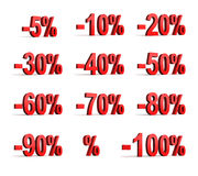 Percent icon Stock Photo
