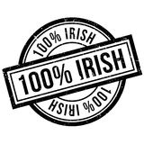 100 percent irish rubber stamp. Grunge design with dust scratches. Effects can be easily removed for a clean, crisp look. Color is easily changed Stock Images