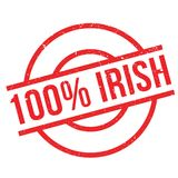 100 percent irish rubber stamp. Grunge design with dust scratches. Effects can be easily removed for a clean, crisp look. Color is easily changed Royalty Free Stock Photos