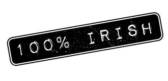 100 percent irish rubber stamp. On white. Print, impress, overprint stock illustration