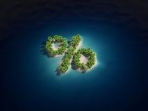 Percent island Royalty Free Stock Image