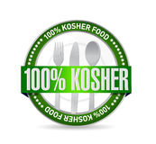 100 percent kosher food seal illustration. Design graphic stock illustration