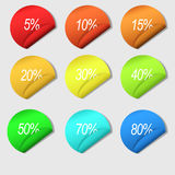Percent Labels Stock Images