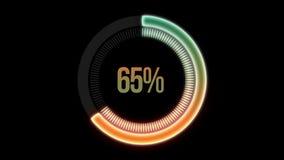 Percent loading circle alpha channel royalty free illustration