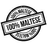 100 percent maltese rubber stamp. Grunge design with dust scratches. Effects can be easily removed for a clean, crisp look. Color is easily changed Vector Illustration