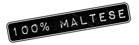 100 percent maltese rubber stamp. Grunge design with dust scratches. Effects can be easily removed for a clean, crisp look. Color is easily changed Stock Illustration