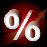 Percent mark Stock Image