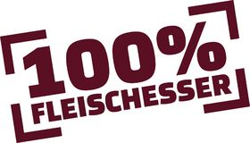 100 percent meat eater stamp - german. Vector Stock Images