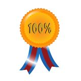 Percent medal. For your design, vector Royalty Free Stock Images