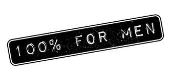 100 percent for men rubber stamp. On white. Print, impress, overprint Stock Image