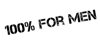 100 percent for men rubber stamp. On white. Print, impress, overprint Royalty Free Stock Photos