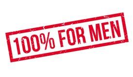 100 percent for men rubber stamp. On white. Print, impress, overprint Stock Photos