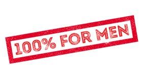 100 percent for men rubber stamp. On white. Print, impress, overprint Stock Images