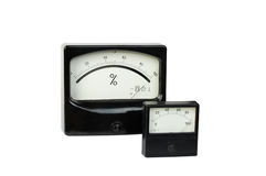 Percent-metre and voltmeter Stock Photos