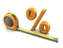 Percent metrics Stock Image