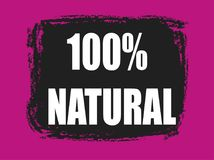 100 percent natural banner Stock Image