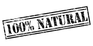 100 percent natural black stamp Stock Photos