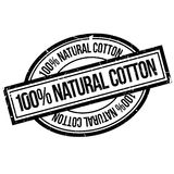 100 percent natural cotton rubber stamp Stock Photography