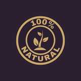 The 100 percent natural icon. Eco and bio, ecology symbol. Flat. Vector illustration Royalty Free Stock Photo