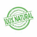 100 Percent Natural Organic Guaranteed Grunge Stamps. Vector royalty free illustration