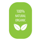 100 percent natural organic label Royalty Free Stock Photos