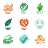 Natural product set logo Stock Images