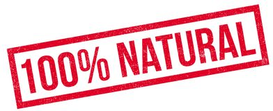 100 percent natural rubber stamp Stock Photography