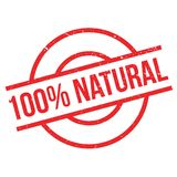 100 percent natural rubber stamp Royalty Free Stock Image