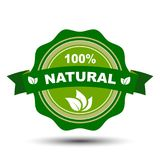 100 percent natural - vector. 100 percent natural – stock vector stock illustration