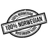 100 percent norwegian rubber stamp Royalty Free Stock Images