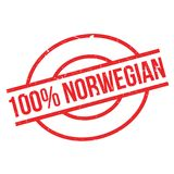 100 percent norwegian rubber stamp. Grunge design with dust scratches. Effects can be easily removed for a clean, crisp look. Color is easily changed Royalty Free Stock Photos